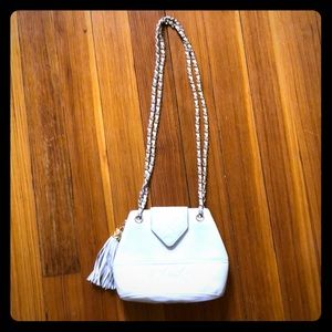 CHANEL crossbody bag in white